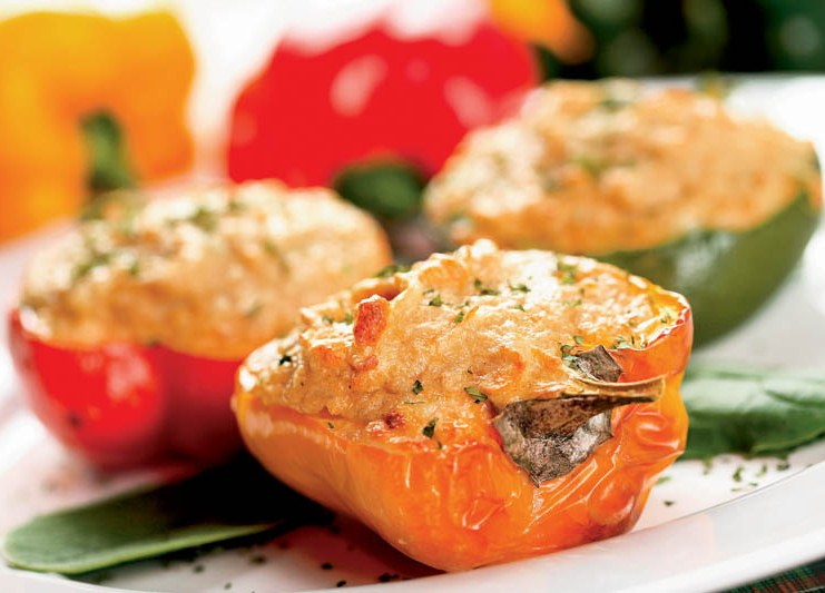 Перцы фаршированные с сыром в духовке рецепт с пошагово в